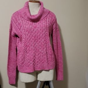 NWT AEO Pink Knit Cowl Sweater